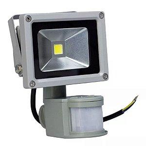Kit 2 Refletor Led 10w Com Sensor de Presença - Branco Frio