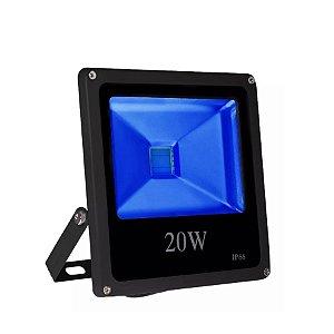 Kit 2 Refletor Led 100w Slim - Azul