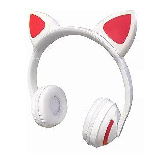 Fone Headphone Bluetooth Orelha De Gato