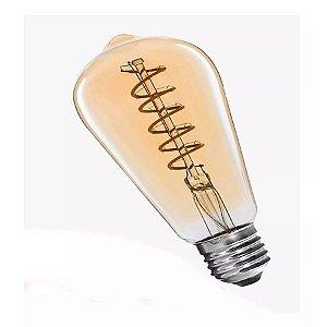 Lâmpada De Filamento LED 4w ST58 - Âmbar