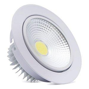 Spot LED 12w Redondo Carcaça Branca - Branco Frio