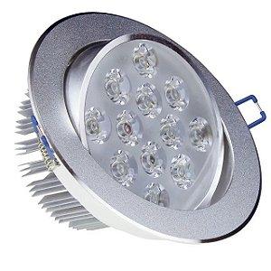 Spot LED 12w Redondo Carcaça Alumínio - Branco Quente
