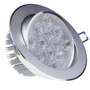 Kit 10 Spot LED 12w Redondo Carcaça Alumínio - Branco Quente