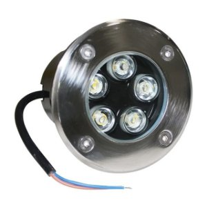 Balizador LED 5w De Chão - Branco Quente