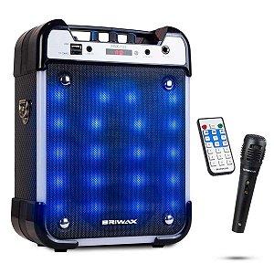 Caixa De Som Bluetooth Amplificada Portátil Grande com Bateria