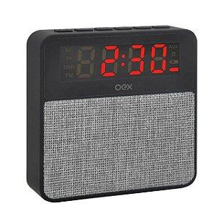 Rádio Relógio Digital Despertador Bluetooth