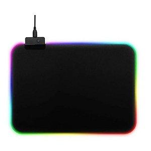 Mouse PAD Gamer Médio Com LED RGB  7 Cores