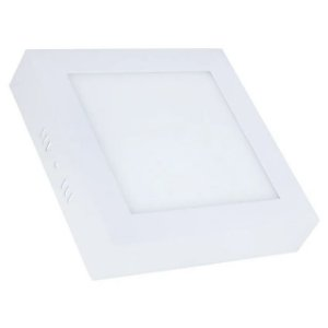 Mini Painel Plafon LED 18w Quadrado Sobrepor - Branco Frio