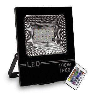 Refletor LED 100w SMD Slim - RGB