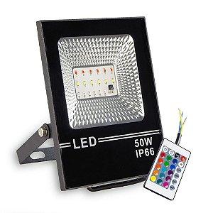 Refletor LED 50w Holofote SMD - RGB