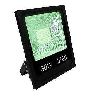Refletor LED 30w Slim SMD - Verde
