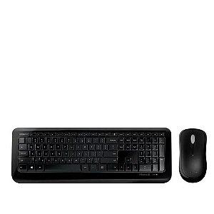 Kit Teclado e Mouse Sem Fio  Microsoft Desktop 850 USB - Preto