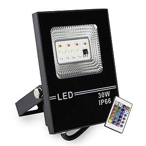 Refletor LED 30w Slim SMD - RGB