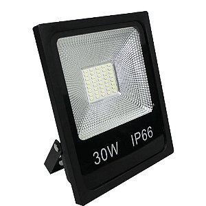 Refletor LED 30w Slim SMD - Branco Quente