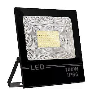 Refletor LED 100w Slim SMD - Branco Quente