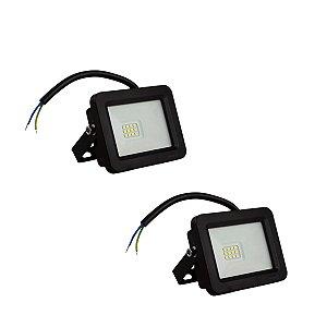 Kit 2 Refletor LED 30w SMD Eco - Branco Frio