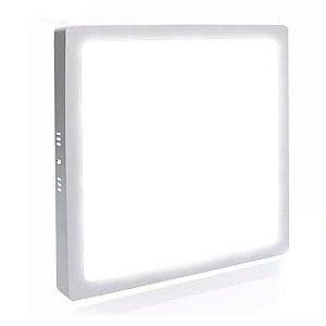 Mini Painel Plafon LED 25w Quadrado Sobrepor - Branco Frio