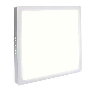 Painel Plafon LED 12w Quadrado Sobrepor - Branco Morno