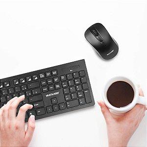 Kit Teclado e Mouse Multilaser Multimídia Sem Fio Wireless - TC212