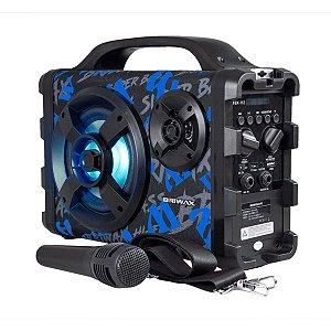 Caixa De Som Bluetooth Fbx-112 Portátil Karaokê