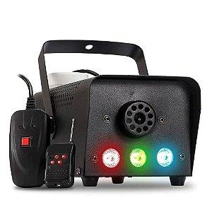 Máquina de Fumaça 700w Iluminação Led RGB Sem Fio Festa BX-750 - 220V