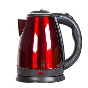 Chaleira Elétrica Multilaser Inox 1500w Vermelha - BE017, BE018