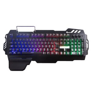Teclado Gamer Multilaser Warrior Zuberi Metal LED - TC210
