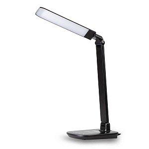 Luminária LED De Mesa E Carregador Por Indução 8w - Preta