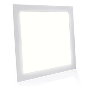 Painel Plafon LED 18w Quadrado Embutir - Branco Morno