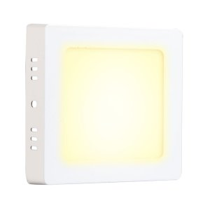 Mini Painel Plafon LED 12w Quadrado Sobrepor - Branco Quente