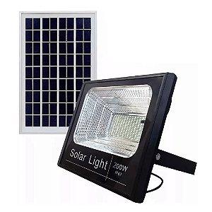 Refletor LED 200w Solar Holofote Luminária - Branco Frio