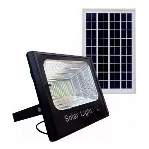 Refletor LED 300w Solar Holofote Luminária - Branco Frio