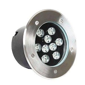 Balizador LED 9w De Chão - Branco Quente