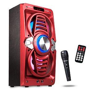 Caixa De Som Amplificadora Bluetooth Torre 12w Karaokê - VC-M873VT