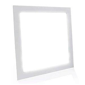 Painel Plafon LED 42w Quadrado Embutir - Branco Frio