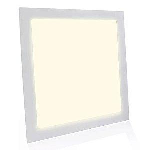 Painel Plafon LED 42w Quadrado Embutir - Branco Morno
