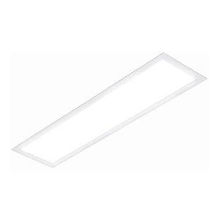 Painel Plafon LED 18w Retangular Embutir - Branco Quente