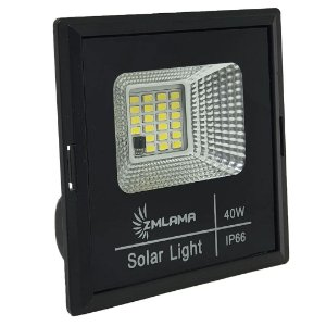 Refletor LED 40w Solar Branco frio + Painel Solar
