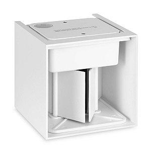 Arandela Luminária LED 6w Cubo De Parede - Branco Quente