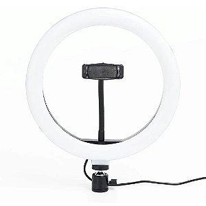 Iluminador LED Ring Light Para Fotos e Vídeos 26cm HQ-1022