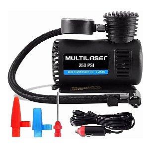 Compressor De Ar Automotivo Multilaser AU601 12v 15l/min 250 Psi