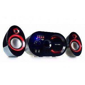 Caixa De Som Bluetooth 18w Wireless Subwoofer 2.1