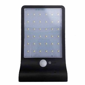 Luminária LED Solar Pública 60w Com Sensor de Presença - Branco Frio