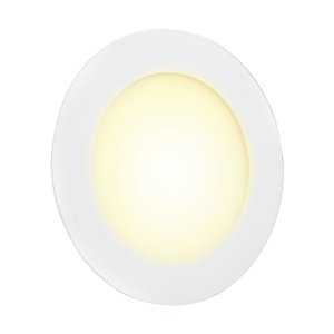 Mini Painel Plafon LED 12w Redondo Embutir Bivolt - Branco Quente