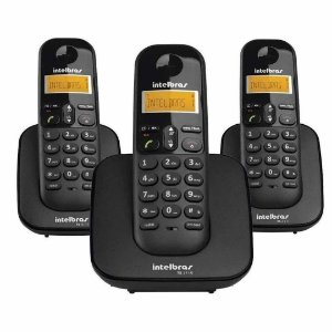 Telefone Sem Fio Ts 3113 Intelbras Base + 2 Ramais Dect 6.0