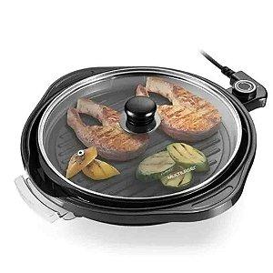 Panela Grill Multilaser Gourmet 1200w Antiaderente 220V - Preta