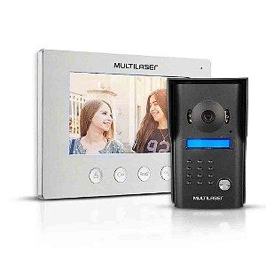 Vídeo Porteiro Multilaser ScE406 Tela Touch 7 Polegadas