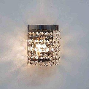 Arandela Meia Lua de Cristal Megalux G9 Luminária Quarto Banheiro LED
