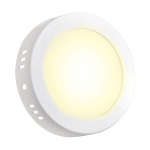 Mini Painel Plafon LED 12w Sobrepor Redondo - Branco Quente