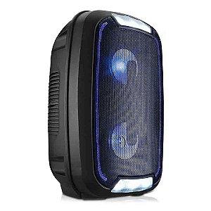 Caixa De Som Multilaser SP336 Mini Torre Portátil Bluetooth Led